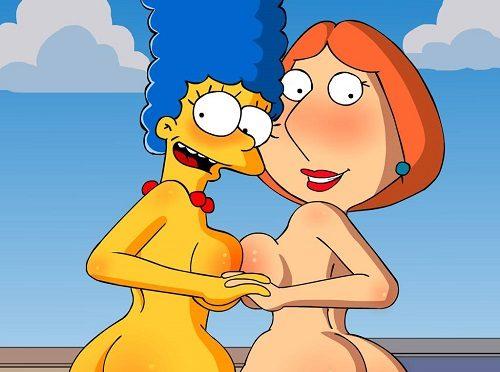 Lesbian cartoon sexy times